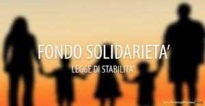 Fondo di solidarietà a tutela del coniuge in stato di bisogno